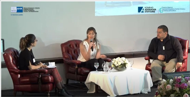 Inés Tiscornia en evento de ciudades sustentables