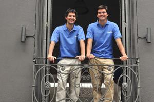 El equipo de Paganza. Vernazza y Lanfranconi